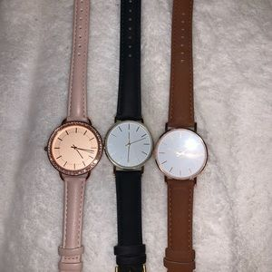 Set of primark watches.